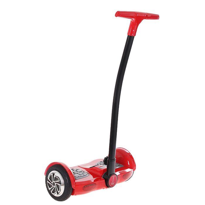 """Гироскутер с ручкой, диаметр колёс 8.0"""", цвет красный"""