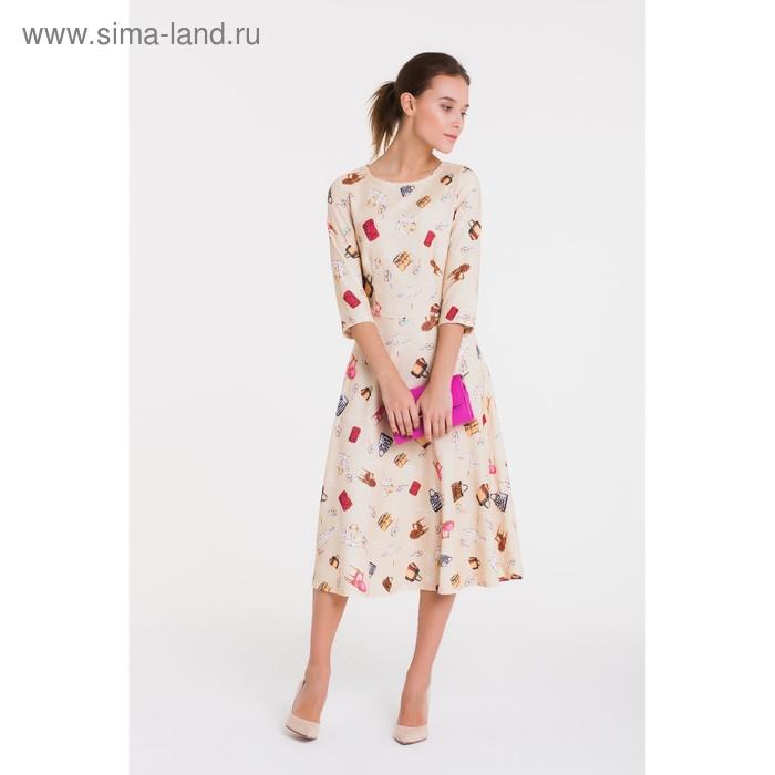 Платье 4913, размер 48, рост 164 см, цвет кремовый/беж