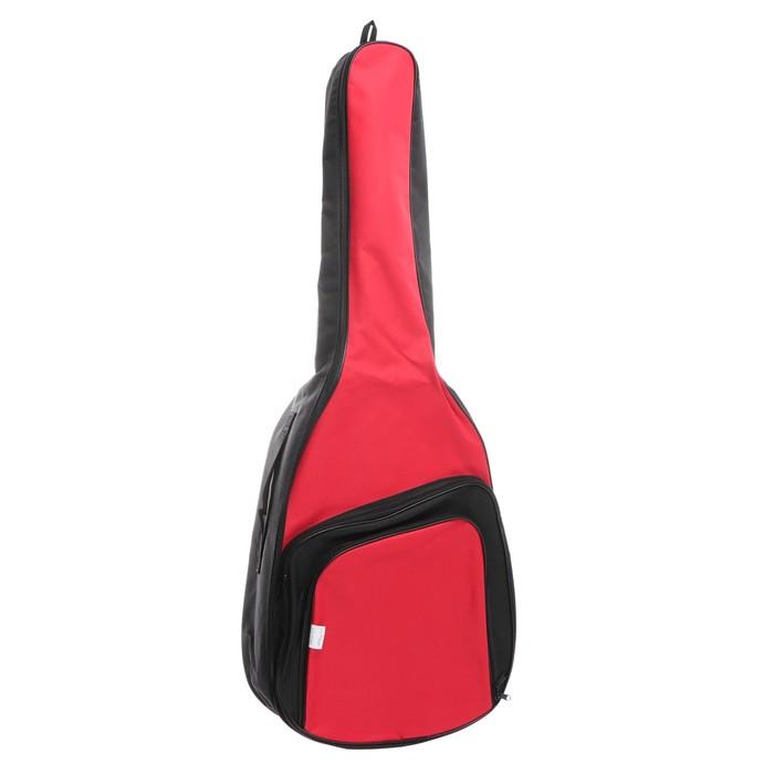 Чехол для гитары классический неутеплённый, цветной, в клетку, c 2-мя ремнями, объёмные карманы