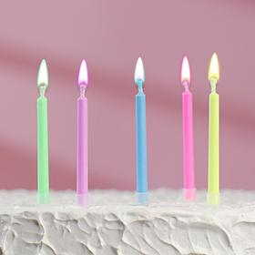 """Свечи в торт """"Цветное пламя"""", набор 5 штук"""