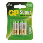 Батарейка алкалиновая GP Super, ААА, LR03-4BL, блистер, 4 шт.