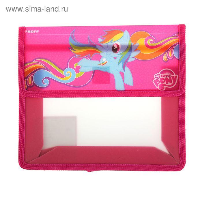 Папка для тетрадей А5 клапан на липучке, пластик, My Little Pony