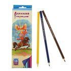 """Карандаши 18 цветов """"Русский карандаш. Сказки"""", шестигранные, длина 175мм, ok 6.4мм"""