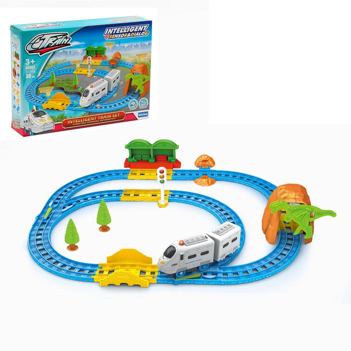 Железная дорога «Пассажирский поезд», со светозвуковыми эффектами, протяжённость пути 2,2 м