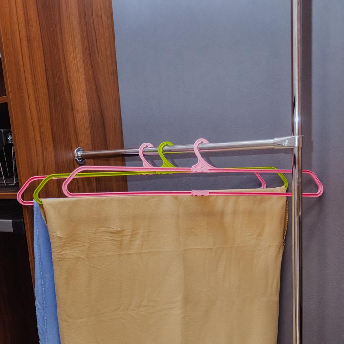 Вешалка для белья 12.5×41.5(76) см, цвет МИКС