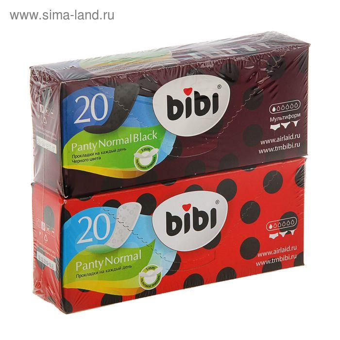 Прокладки ежедневные «BiBi» Panty Normal, 20 шт + «BiBi» Black, 20 шт