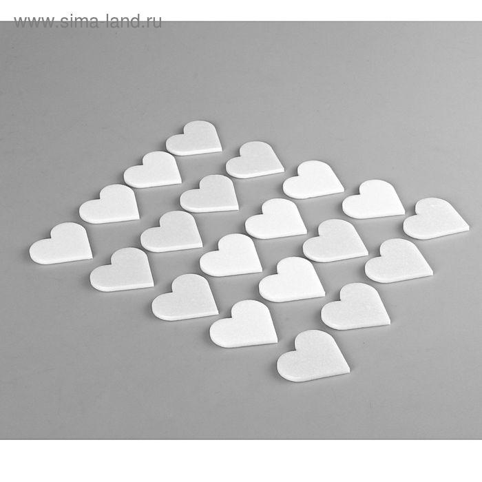 """Форма из пенопласта """"Сердечко тонкое"""", 5 х 0,3 см, набор 20 шт"""