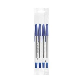 Набор ручек шариковых 4 штуки «Стамм» 111 «Офис», узел 0.7-1.0 мм, чернила синие, европодвес Ош