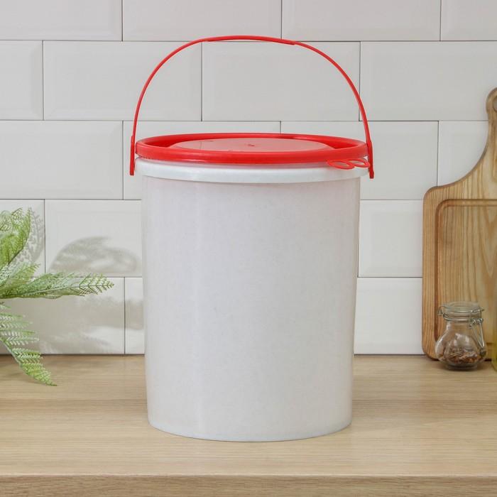 Ведро с герметичной крышкой ПластоС, 12 л, цвет МИКС - фото 1647316