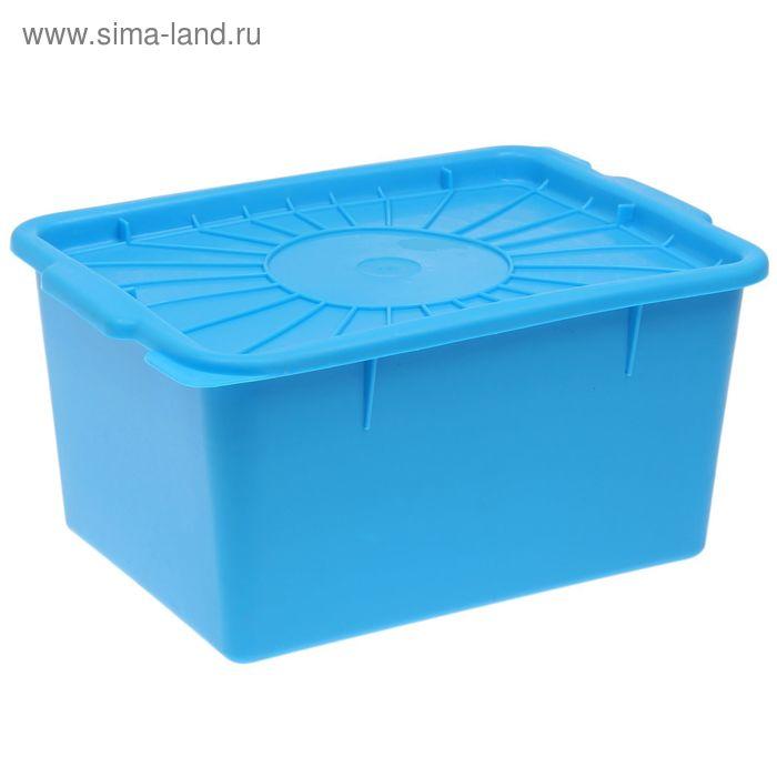 Емкость 18 л, 37х30х20 см, с герметичной крышкой, цветная