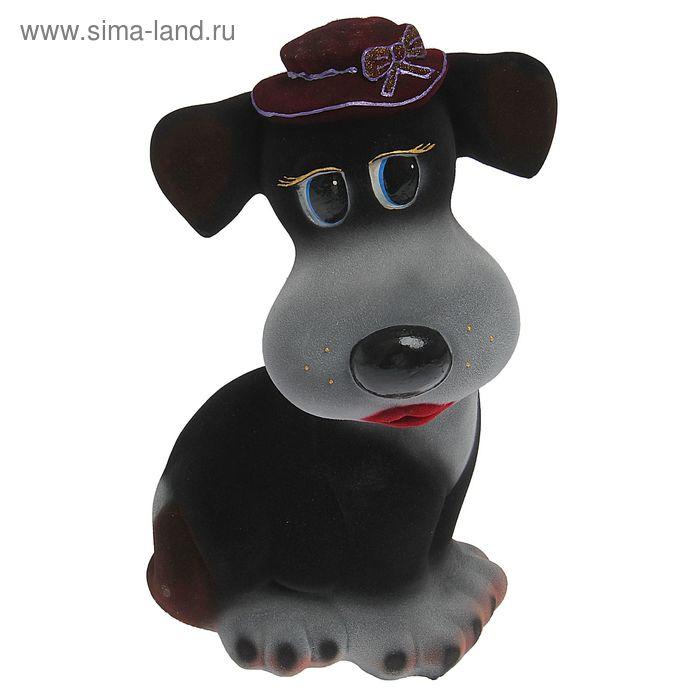 """Копилка """"Собака Шарлин"""" флок, чёрный"""