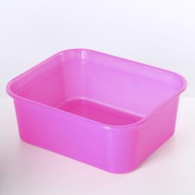 Ёмкость для хранения прямоугольная 6,5 л, цвет МИКС