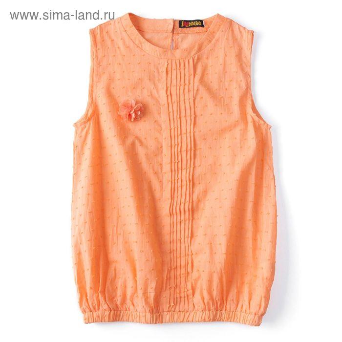 """Блуза для девочки """"Шитье"""", рост 134 см, цвет терракот (арт. 87631б)"""