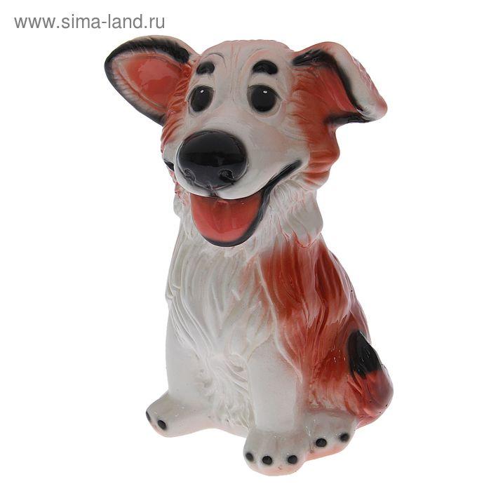 """Копилка """"Собака Джек"""" глянец, рыжая"""
