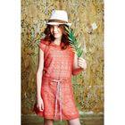 """Туника с капюшоном для девочки, рост 134 см, цвет розовый """"Этно сетка"""" 87625б"""