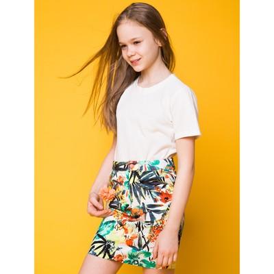 """Юбка для девочки """"Тропики"""", рост 164 см, цвет оранжевый (арт. 87643б)"""