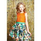 """Платье для девочки """"Тропические цветы"""", рост 134 см, цвет оранжевый (арт. 87628б)"""