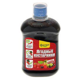 Удобрение органоминеральное жидкое Фаско в бутылках Для Ягодных Кустарников, 500 мл