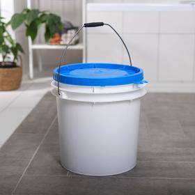 Ведро с герметичной крышкой ПластоС, 20 л, цвет белый
