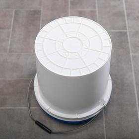 Ведро с герметичной крышкой ПластоС, 20 л, цвет белый - фото 4645089