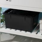 Емкость 18 л, 37х30х20 см, с герметичной крышкой, цвет черный