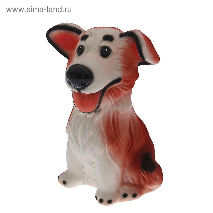 """Копилка """"Собака Джек"""" флок, рыжая"""