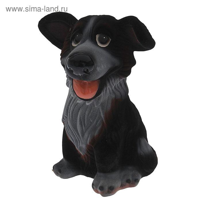 """Копилка """"Собака Джек"""" флок, чёрный"""