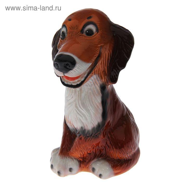 "Копилка ""Собака Шарик "" глянец, рыжая"