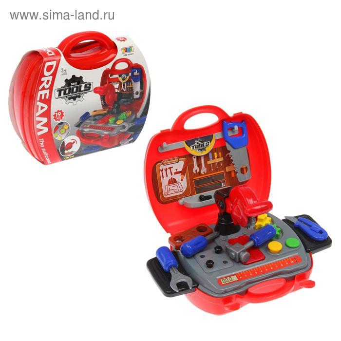 """Игровой набор в чемоданчике """"Юный плотник"""", 19 элементов"""