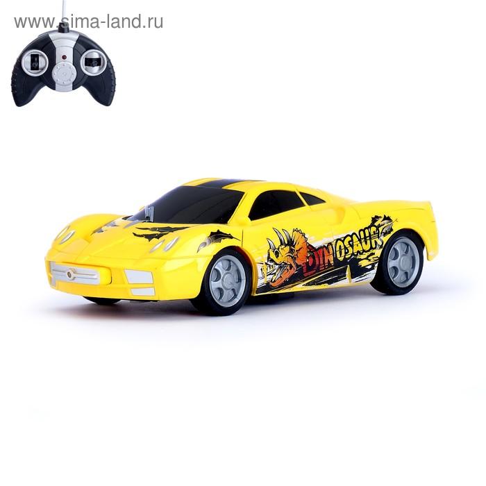 """Машина радиоуправляемая """"Суперкар"""", с аккумулятором, бум-двери, цвета МИКС"""
