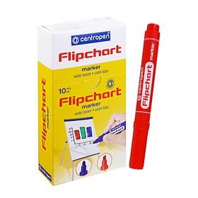 Маркер для флипчарта Centropen 8550, 2.5 мм, красный