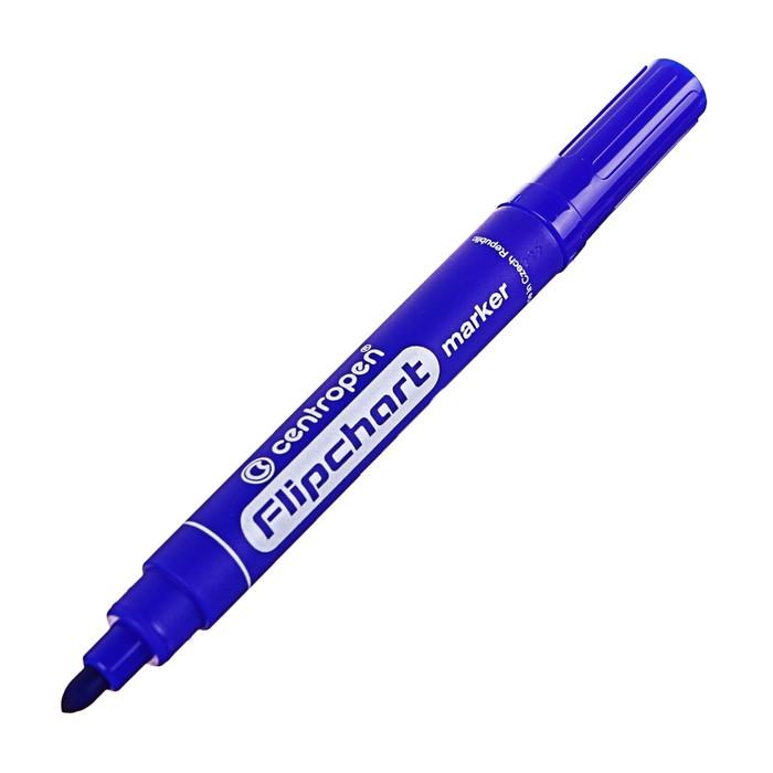 Маркер для флипчарта Centropen 8550, 2.5 мм, синий
