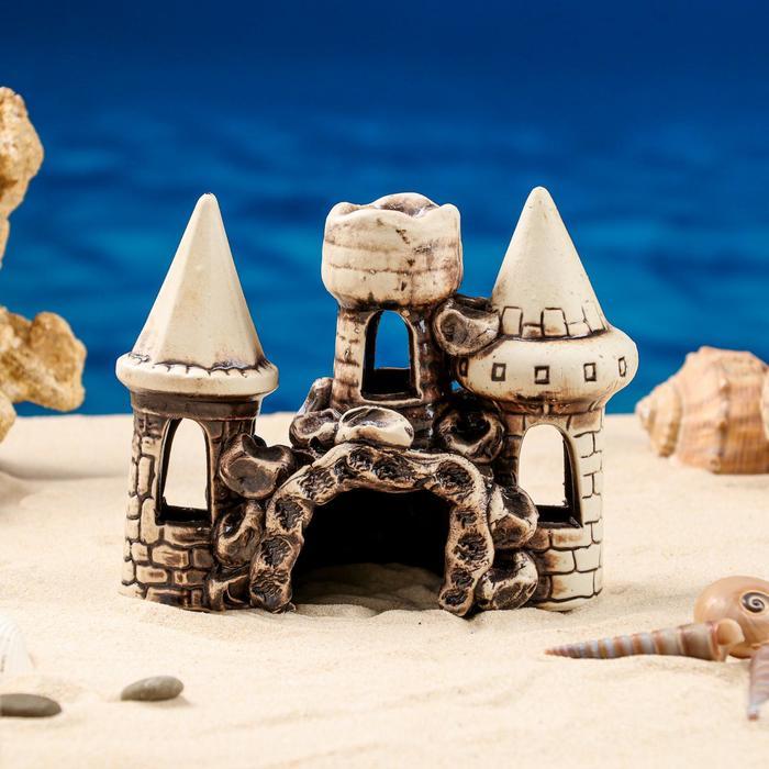 """Декорация для аквариума """"Три башни в ряд"""", 10 х 16 х 15 см, микс - фото 7443138"""