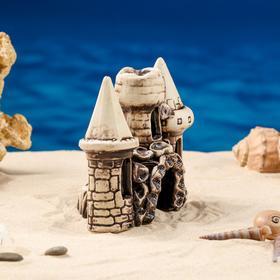"""Декорация для аквариума """"Три башни в ряд"""", 10 х 16 х 15 см, микс - фото 7443139"""