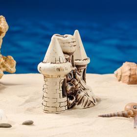 """Декорация для аквариума """"Три башни в ряд"""", 10 х 16 х 15 см, микс - фото 7443140"""