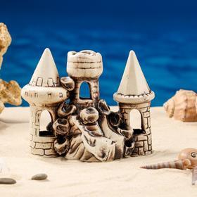 """Декорация для аквариума """"Три башни в ряд"""", 10 х 16 х 15 см, микс - фото 7443141"""