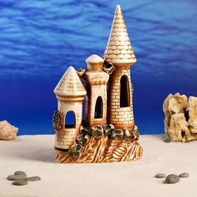 "Декорации для аквариума ""Замок на скале"" средний"