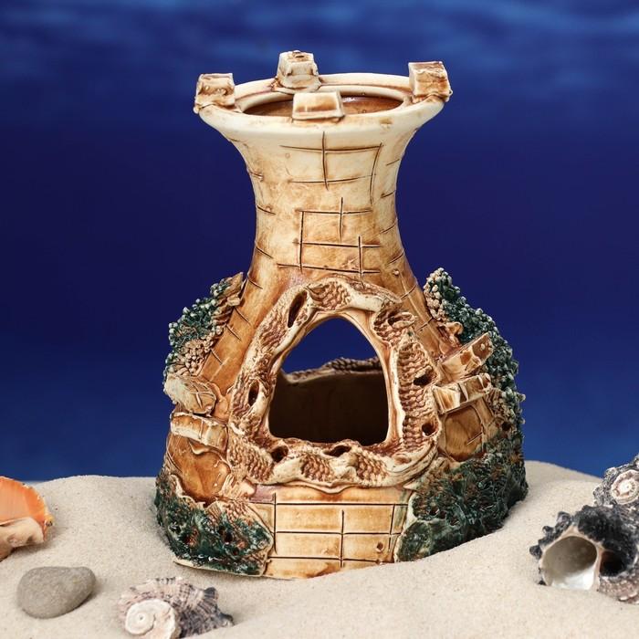 """Декорация для аквариума """"Одна башня"""", 10 х 12 х 12 см, микс - фото 7329100"""