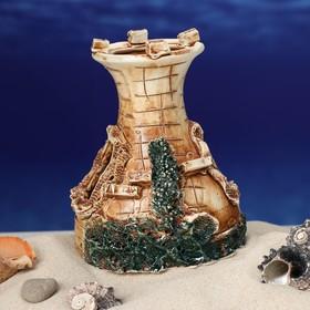 """Декорация для аквариума """"Одна башня"""", 10 х 12 х 12 см, микс - фото 7329101"""