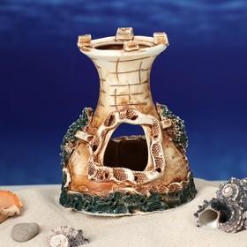 """Декорация для аквариума """"Одна башня"""", 10 х 12 х 12 см, микс - фото 7329102"""