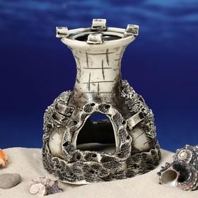 """Декорация для аквариума """"Одна башня"""", 10 х 12 х 12 см, микс - фото 7329104"""