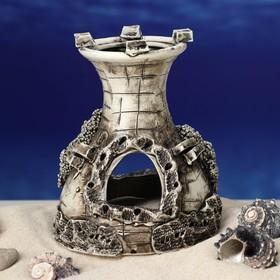 """Декорация для аквариума """"Одна башня"""", 10 х 12 х 12 см, микс - фото 7329106"""