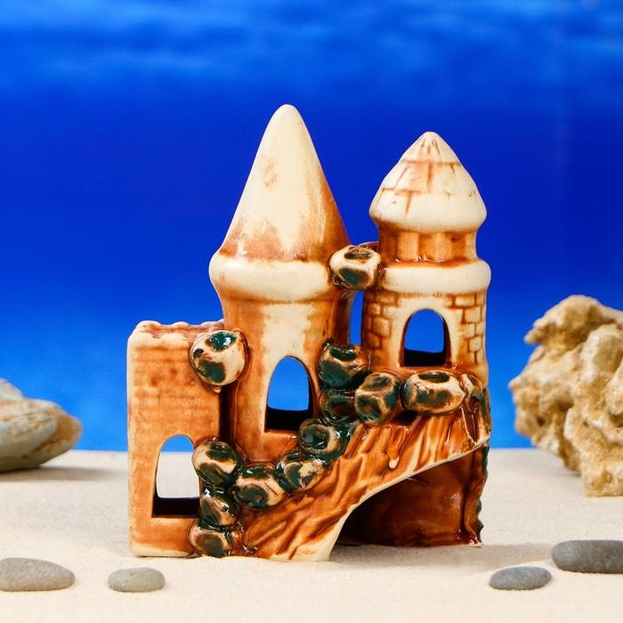 """Декорация для аквариума """"Замок и башни"""", 8 х 13 х 16 см, микс"""