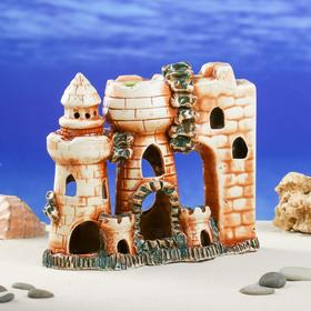 "Декорации для аквариума ""Две башни и стена"""