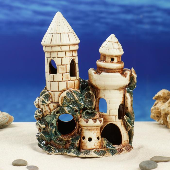 """Декорации для аквариума """"Две башни"""""""