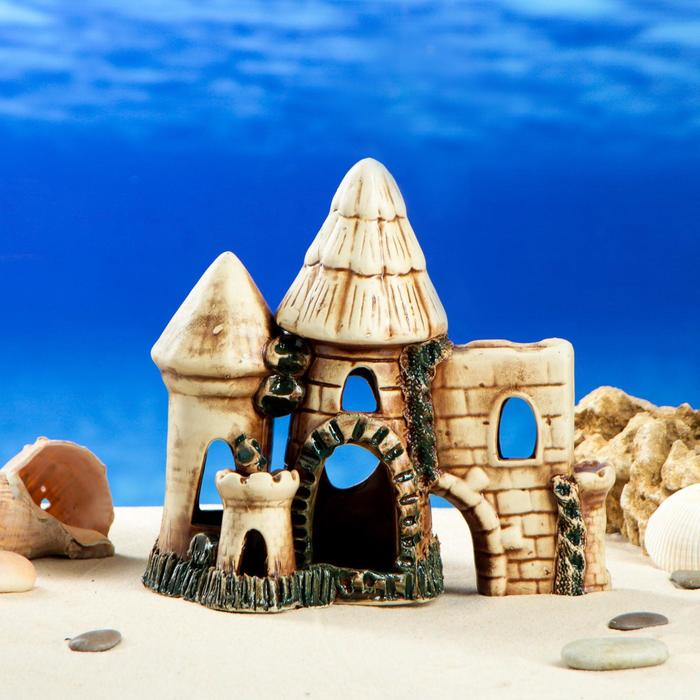 """Декорации для аквариума """"Две башни со стеной"""""""