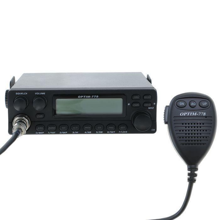 Радиостанция OPTIM-778, СВ 26965-27410 кГц, 12 В, 4 Вт, 40 каналов