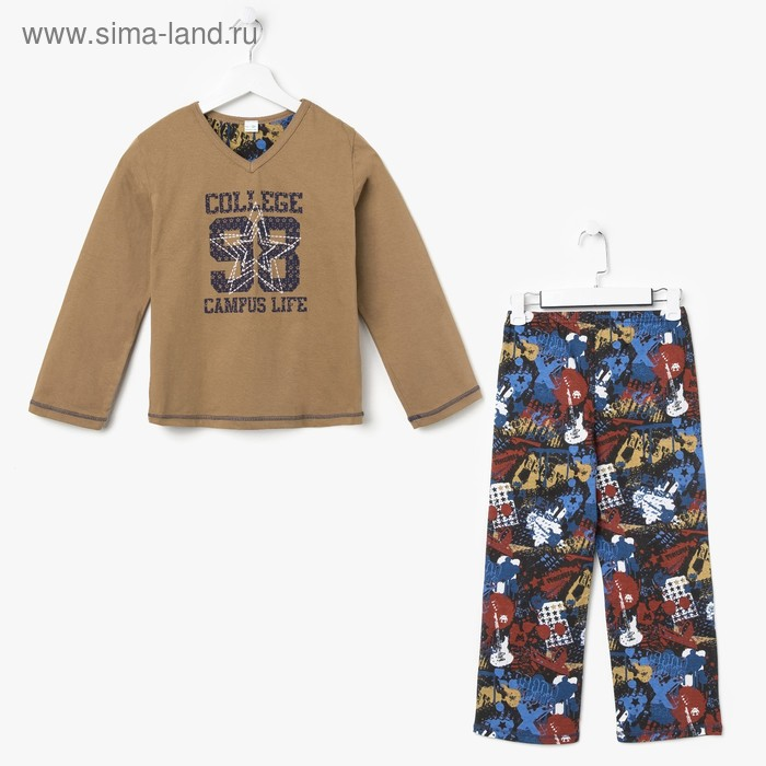 Пижама для мальчика, рост 140 см (72), цвет МИКС (арт. 631-15)