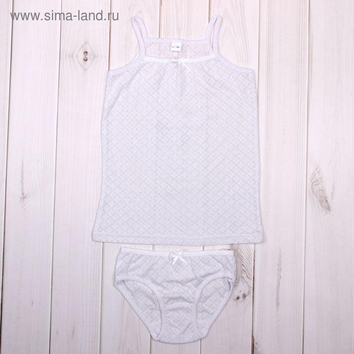 Гарнитур для девочки, рост 104 см (56), цвет белый (арт. 26-16)