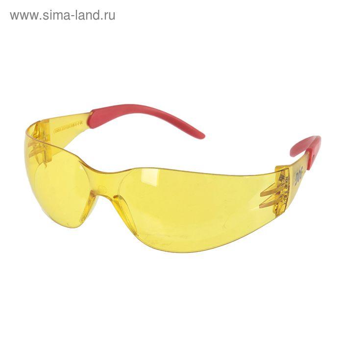 Очки защитные открытые DOG Racing янтарные